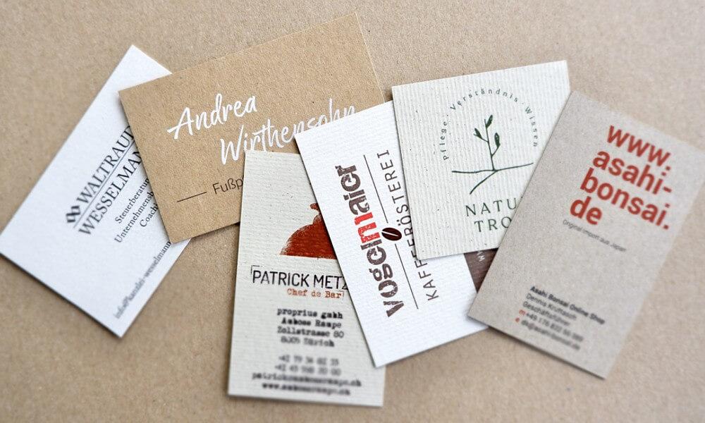 Extraprint Blog Visitenkarten Naturpapier Kraftpapier